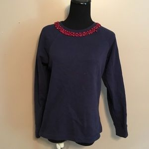 J. Crew Crewneck Beaded Sweatshirt
